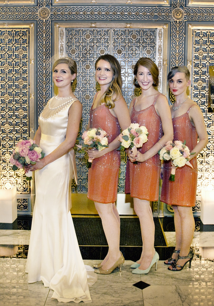Bride and bridesmaids - photo by Jessica Stout