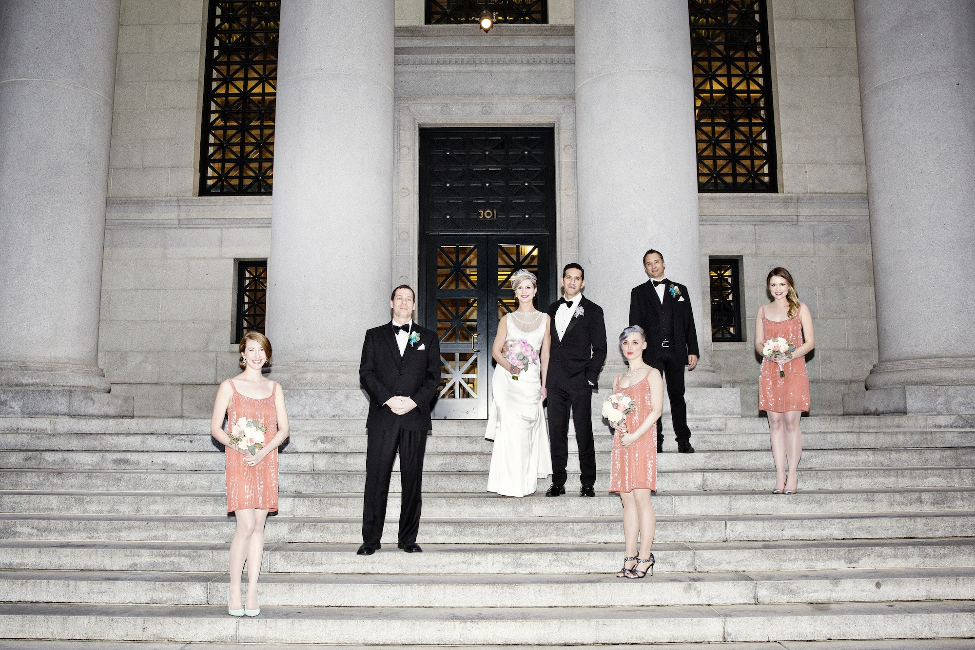 The bridal party - photo by Jessica Stout