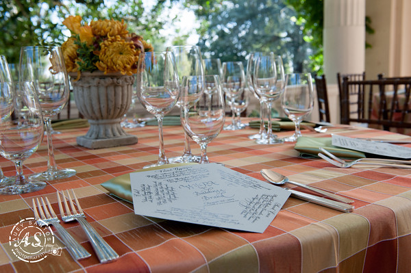 menu on place setting
