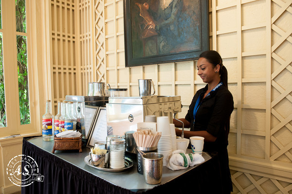 Building a brand with wipa at villa montalvo wedding woof for Coffee bar for wedding