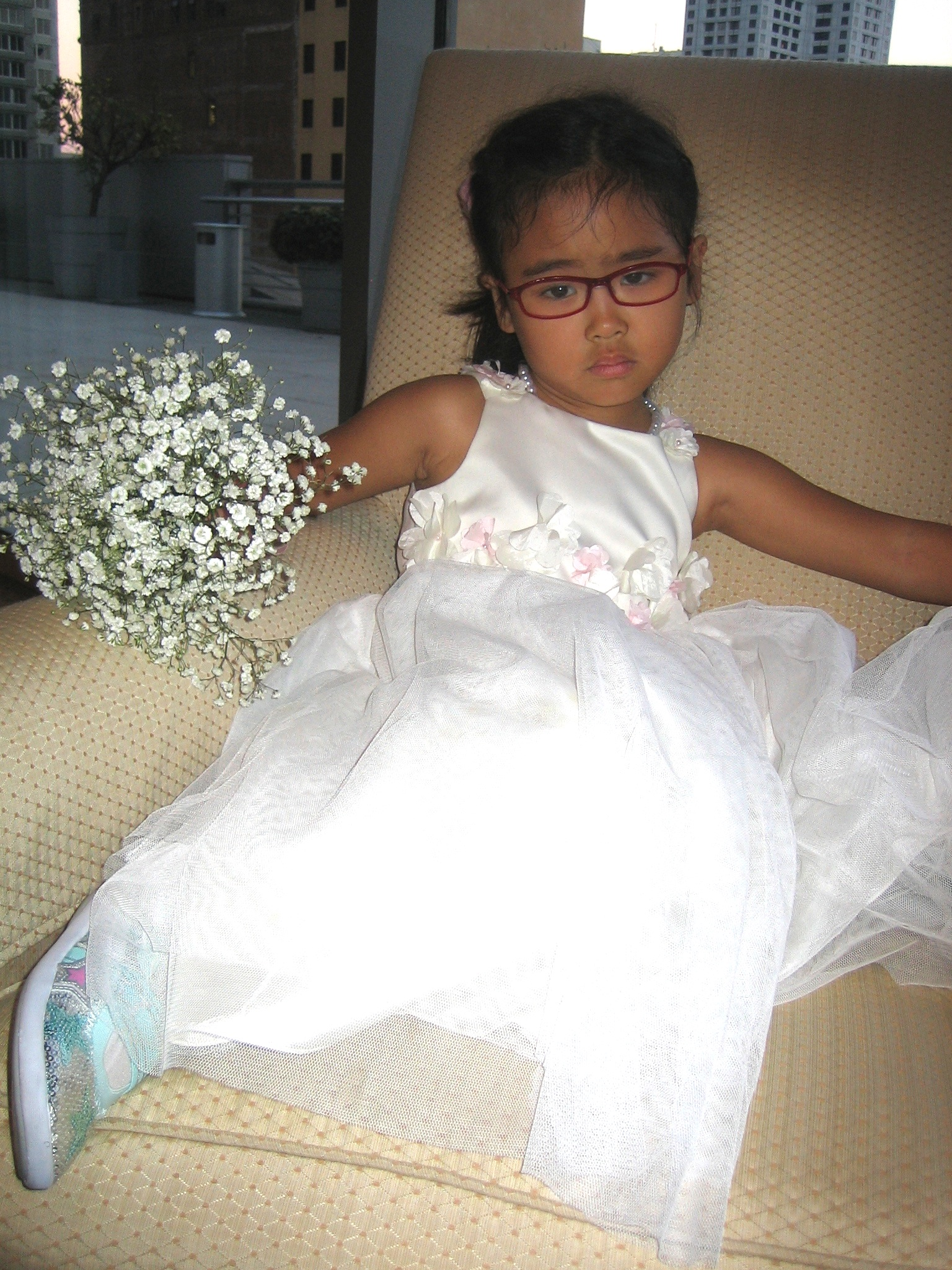 flower girl tired