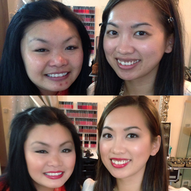Makeup before and after 1