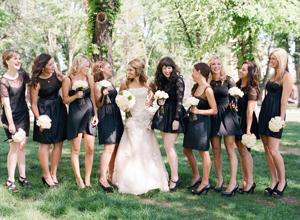 blk bridesmaids dresses