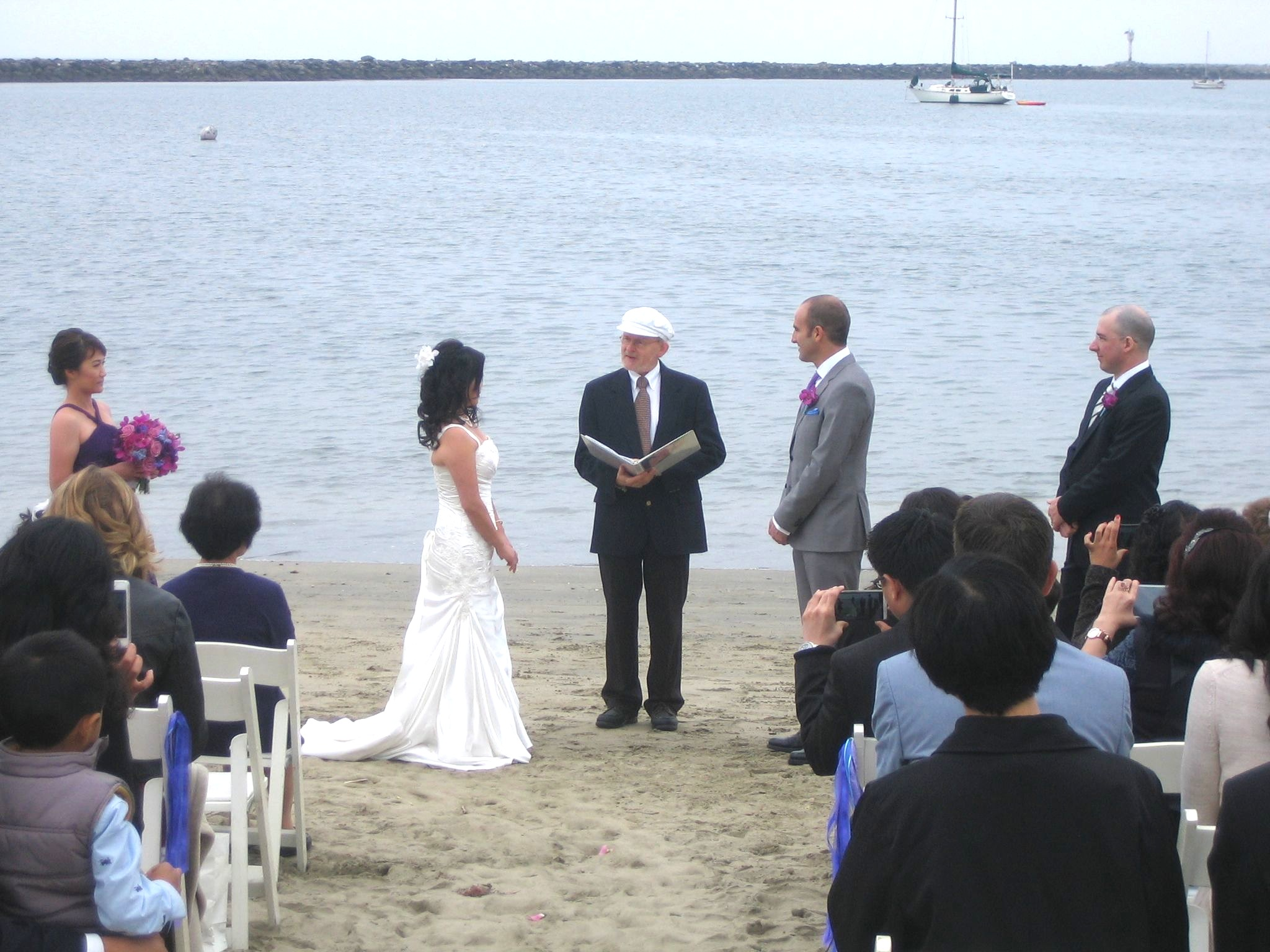 Beach wedding Tina
