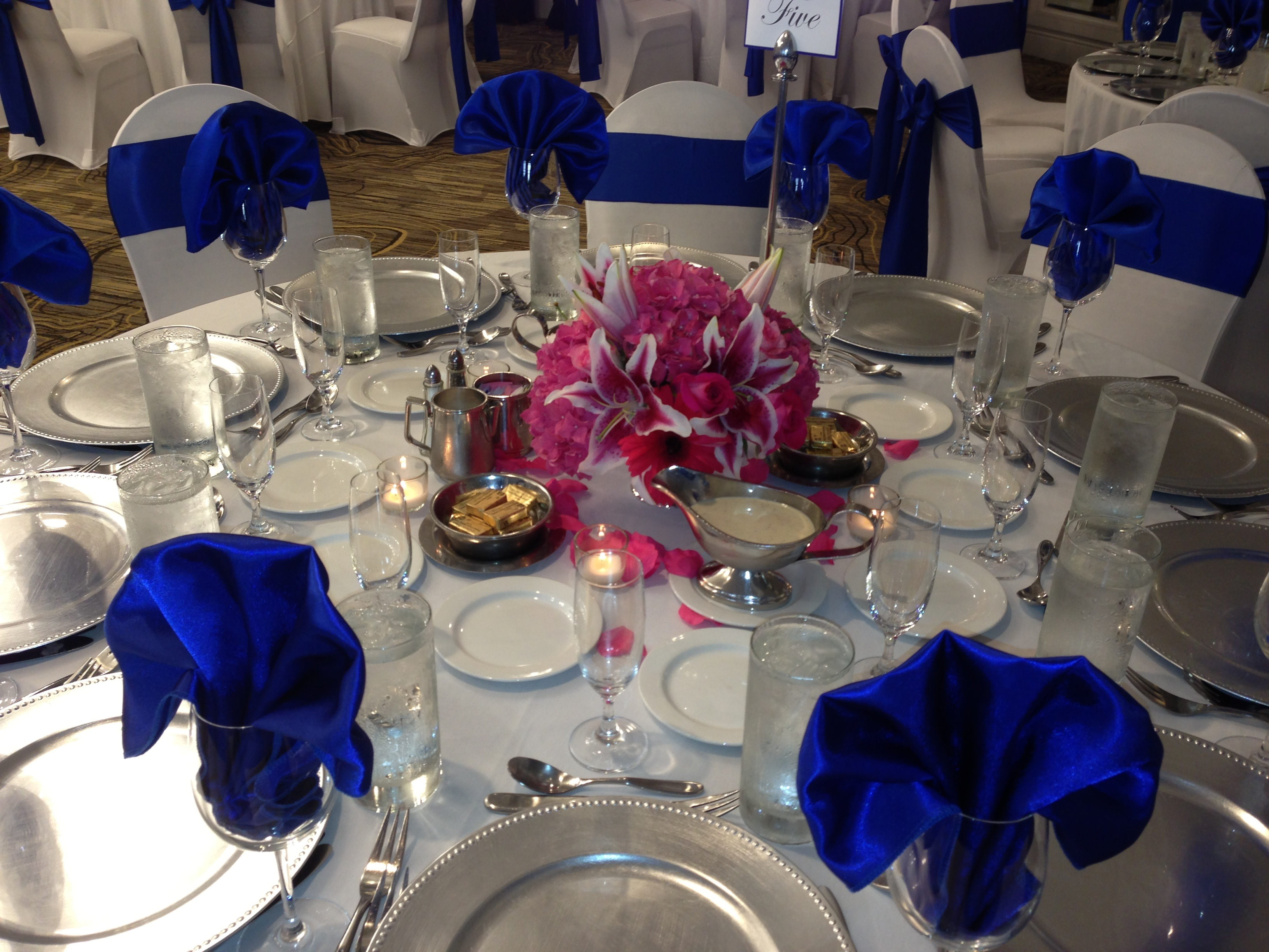 Chic in teal cobalt and hot pink laura and tyler s wedding wedding woof