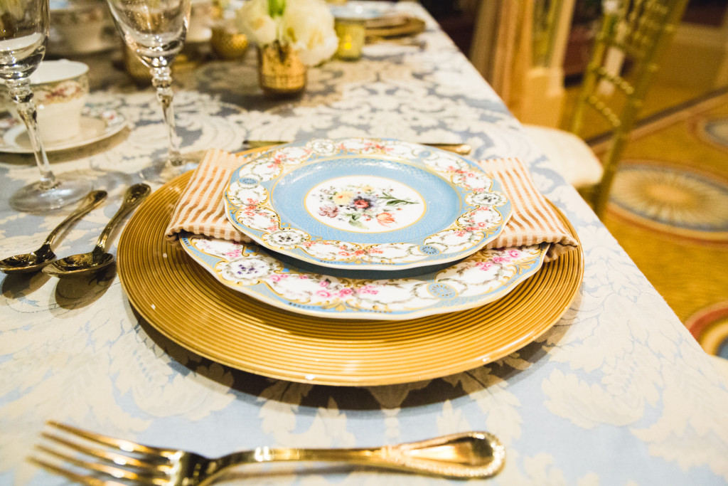 place setting and carpet
