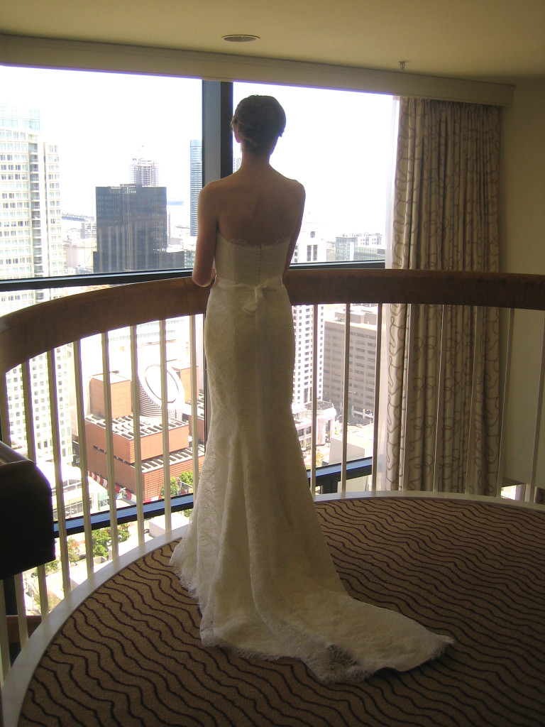 bride and city