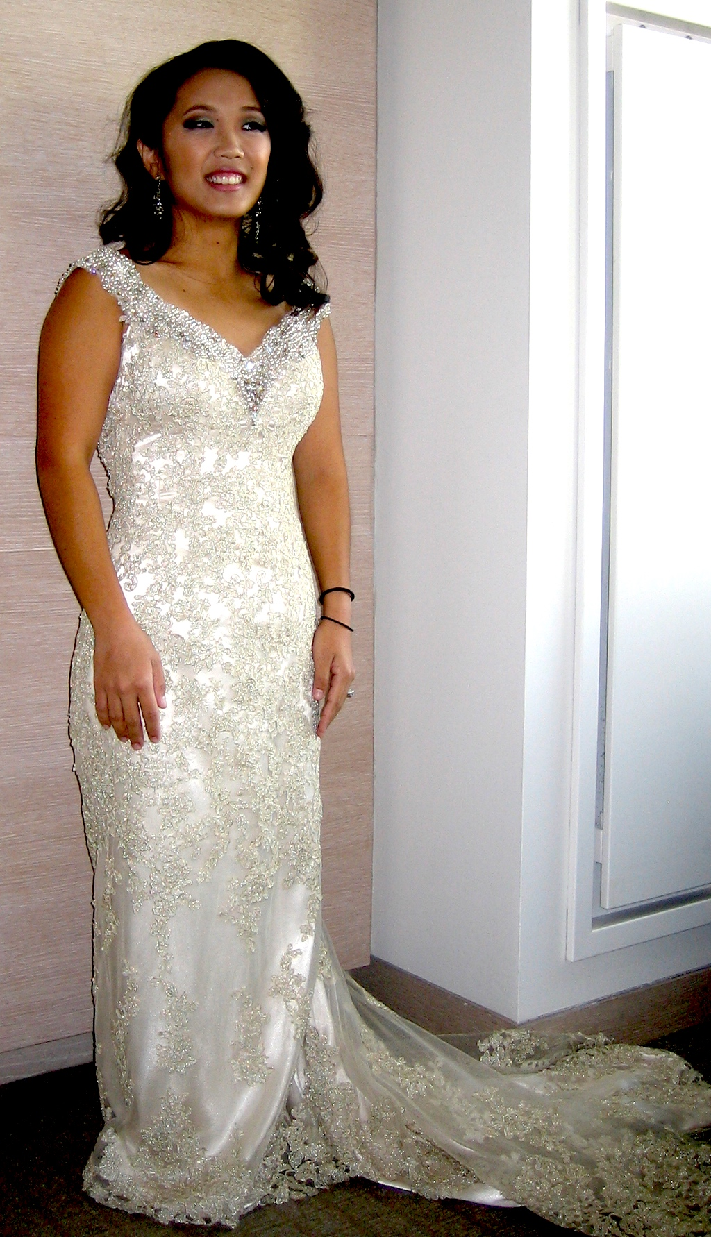 Champagne colored wedding dress meaning derek
