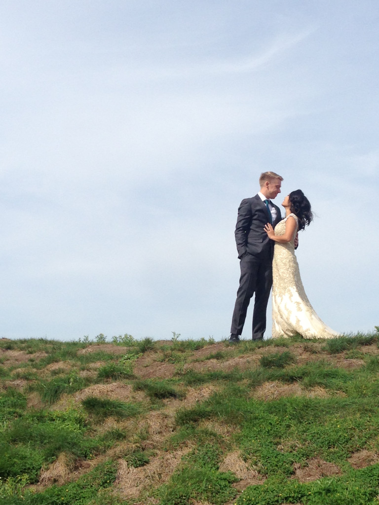 couple on hill