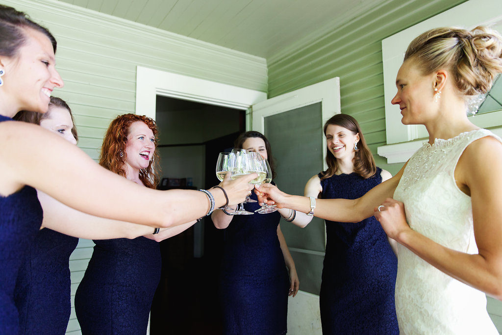 Bridesmaids toast